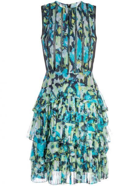 Платье с оборками с вырезом на молнии круглое Jason Wu Collection