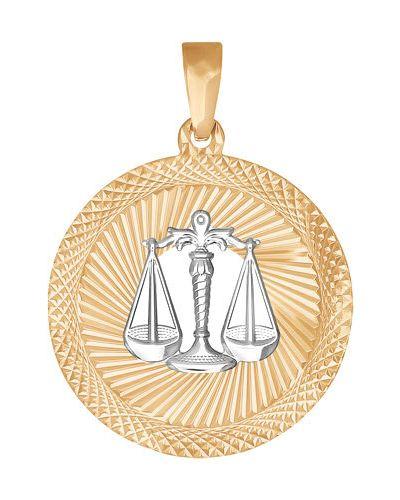 Золотая подвеска золотой круглая Sokolov