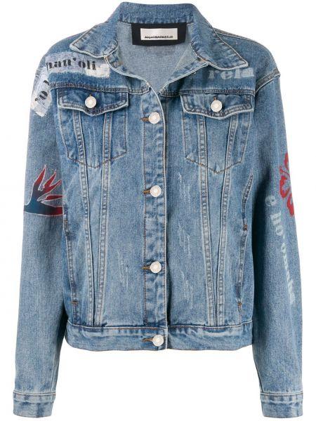 Синяя джинсовая куртка Night Market