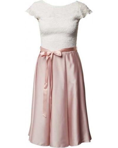 Sukienka koronkowa - różowa Swing