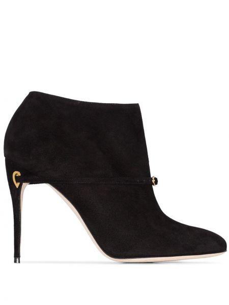 Черные ботинки на каблуке Jennifer Chamandi