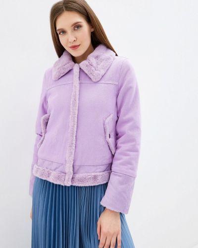 Джинсовая куртка осенняя фиолетовый Grand Style