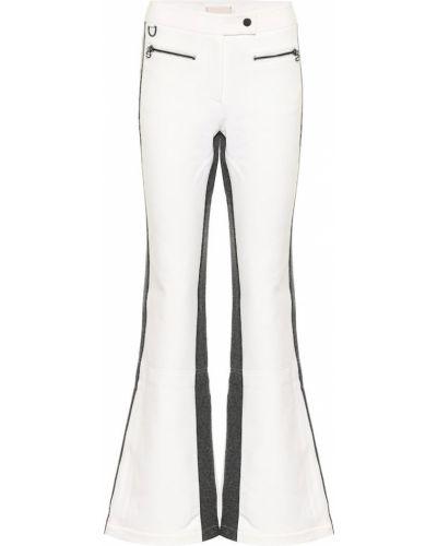 Białe spodnie w paski wełniane Erin Snow