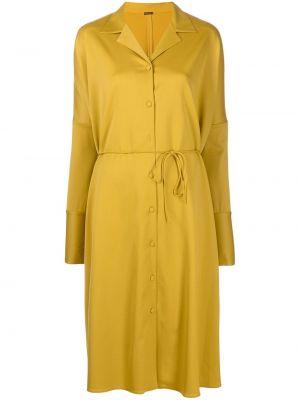 Шерстяное платье миди - желтое Adam Lippes