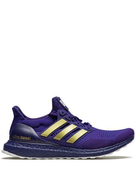 Фиолетовые кроссовки на шнурках круглые Adidas