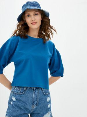 Синяя футболка с короткими рукавами Adl