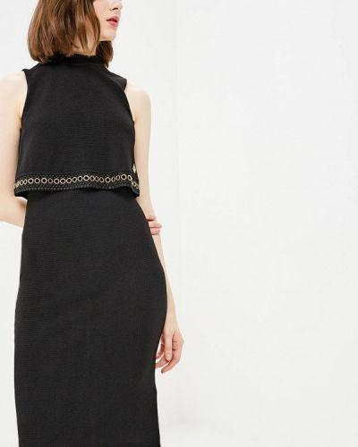 Черное платье осеннее Gaudi