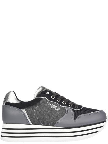 Кроссовки на платформе серый Trussardi Jeans