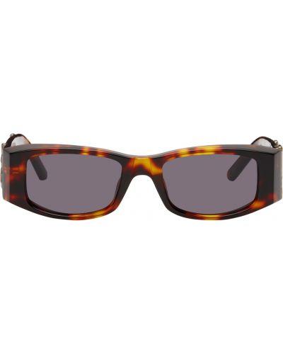 Czarne okulary srebrne Palm Angels