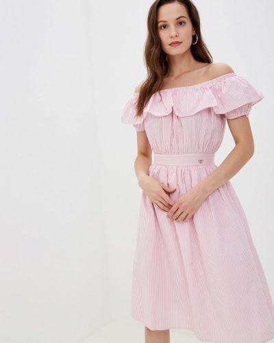 Платье розовое с открытыми плечами Luisa Wang