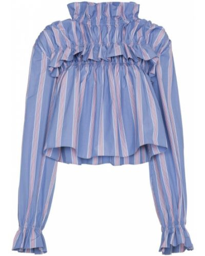 Блузка с рюшами в полоску Marni