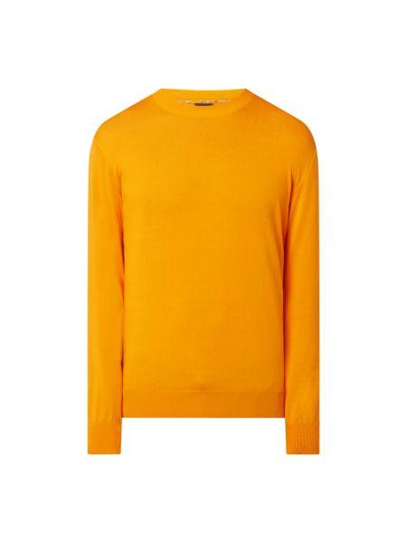 Prążkowany pomarańczowy sweter bawełniany Paul & Shark