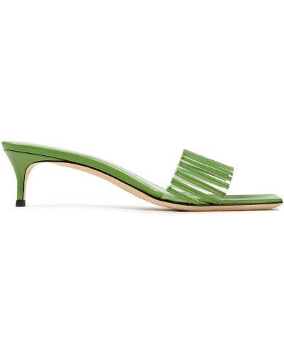 Мюли на каблуке - зеленые By Far
