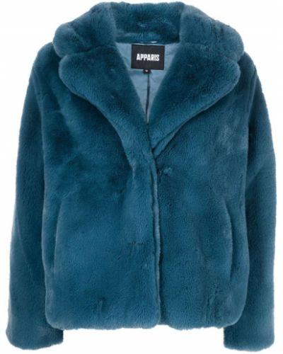 Niebieski płaszcz zapinane na guziki Apparis