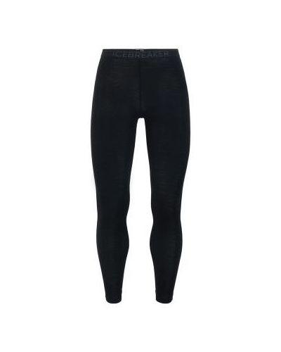 Czarne legginsy wełniane na co dzień Icebreaker
