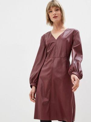 Кожаное платье - бордовое Max&co
