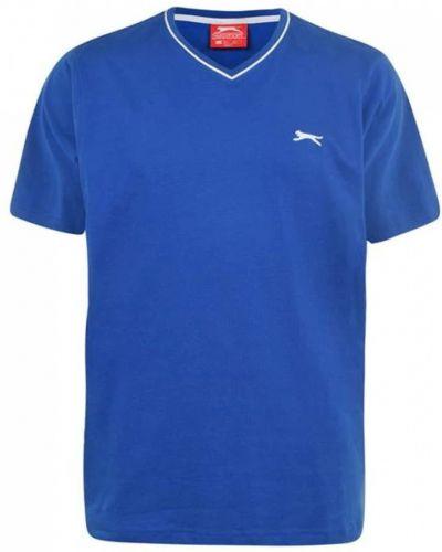 Футболка с V-образным вырезом - синяя Slazenger