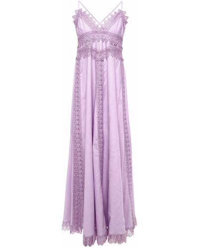 Хлопковое платье макси - серебряное Charo Ruiz Ibiza