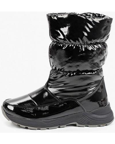 Лаковые черные кожаные дутики Kenkä