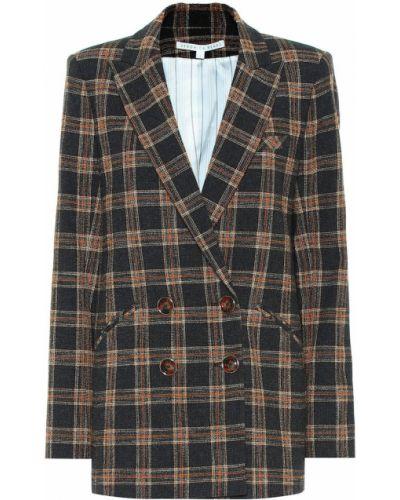 Ватный коричневый деловой нейлоновый пиджак Veronica Beard