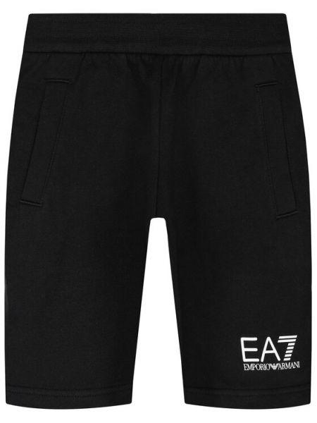 Spodenki sportowe - czarne Ea7 Emporio Armani