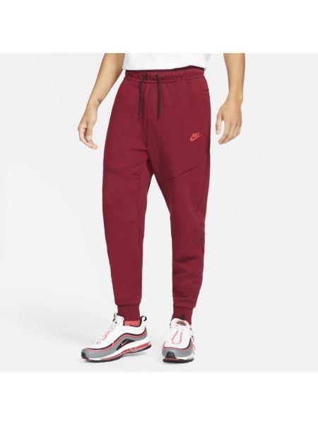 Czerwony runo joggery z kieszeniami Nike