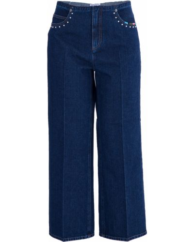 Расклешенные джинсы с вышивкой укороченные Sonia Rykiel