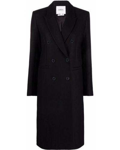 Шерстяное пальто - черное Ba&sh