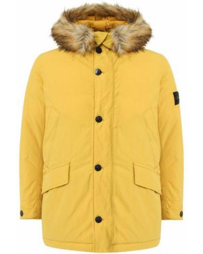 Утепленная куртка с капюшоном на молнии Stone Island