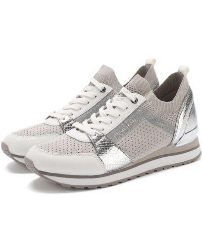 Кроссовки на шнуровке комбинированные Michael Michael Kors
