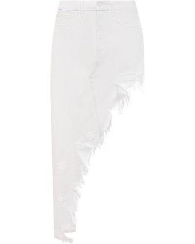 Джинсовая юбка - белая Denim X Alexander Wang