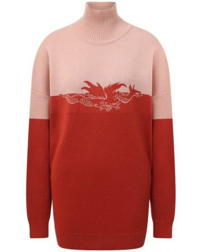 Красный шерстяной свитер Lesyanebo