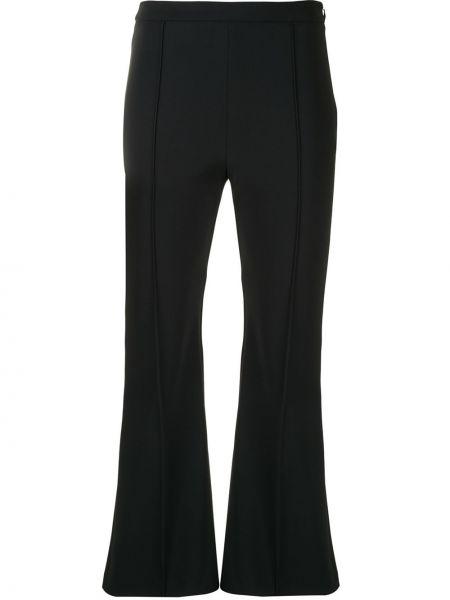 Брючные черные расклешенные укороченные брюки Adam Lippes