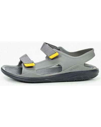 Текстильные сандалии - черные Crocs