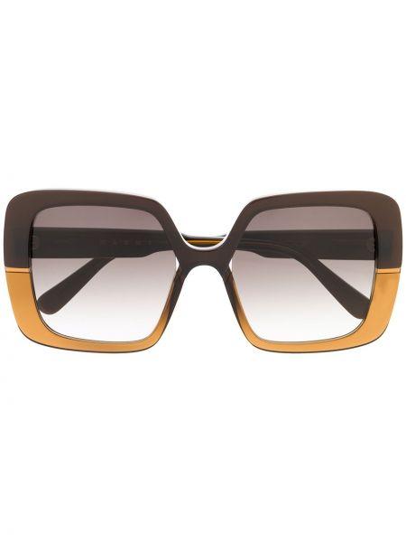 Прямые муслиновые солнцезащитные очки квадратные хаки Marni Eyewear