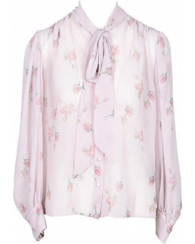 Różowa koszula z printem Marco Bologna