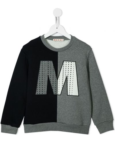 Czarna bluza bawełniana Marni Kids