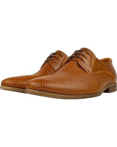Кожаные туфли - коричневые Faber