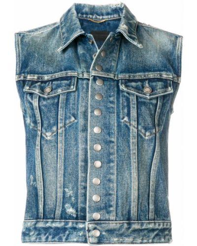 Жилетка джинсовая на пуговицах Saint Laurent