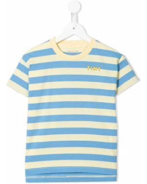 Хлопковая синяя футболка с короткими рукавами с круглым вырезом Tiny Cottons