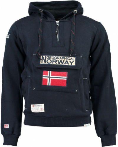 Синяя повседневная толстовка Geographical Norway
