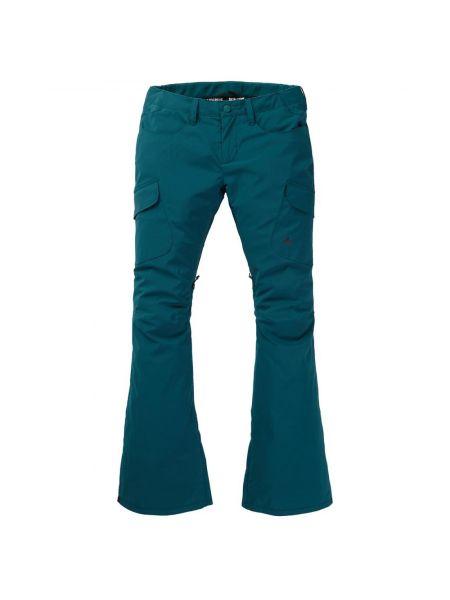 Коричневые нейлоновые брюки на резинке мембранные с открытым носком Burton