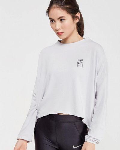 Серая спортивная футболка Nike