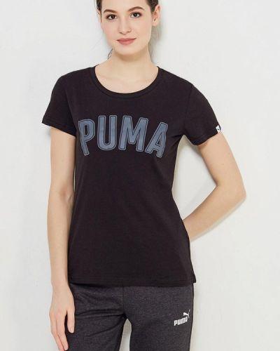 Черное поло спортивное Puma