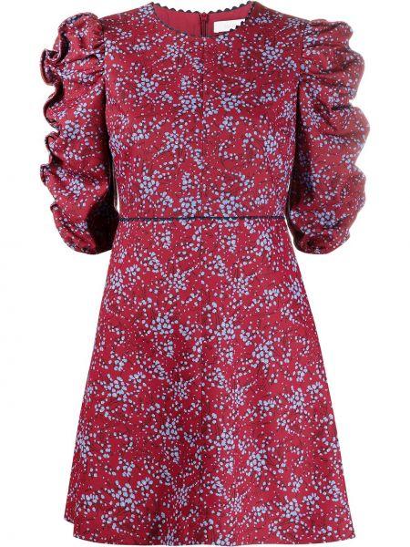 С рукавами красное платье из вискозы с драпировкой See By Chloé