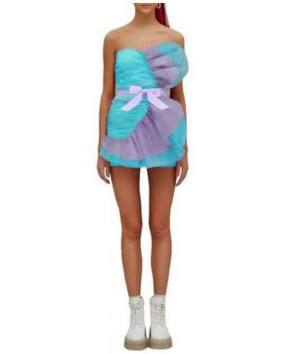 Niebieska sukienka mini Teen Idol