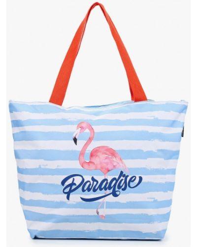 Текстильная сумка шоппер - голубая Fabretti
