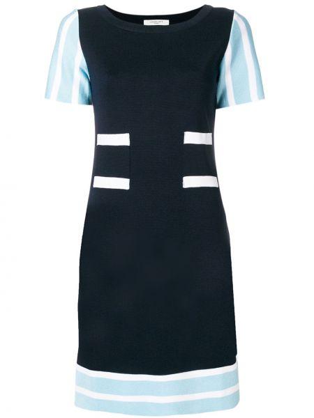 Синее платье из вискозы Charlott