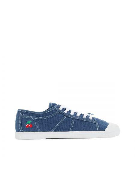 Спортивные темно-синие текстильные кроссовки на каблуке Le Temps Des Cerises