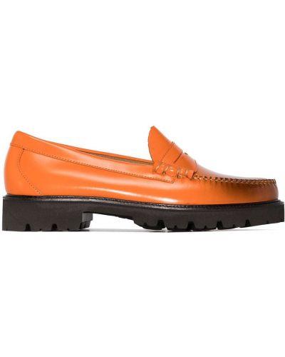 Loafers - pomarańczowe G.h. Bass & Co.